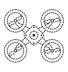 drone sticker vector image