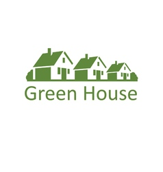 Ecological house icon vector