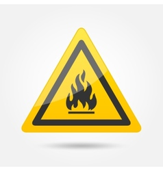 Fire attention icon vector image