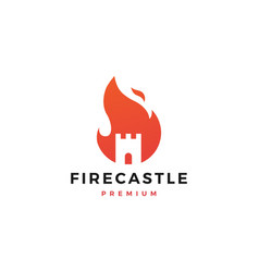 fire castle logo flame icon design inspirations vector image