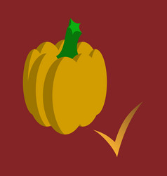 Flat pumpkin autumn halloween or thanksgiving vector