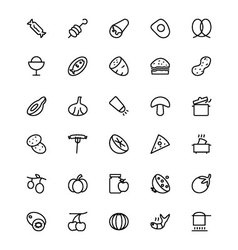 Food and drinks Line Icons 15 vector image