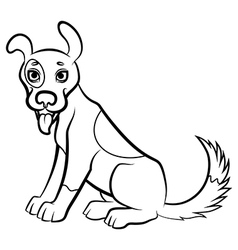 funny dog contour vector image