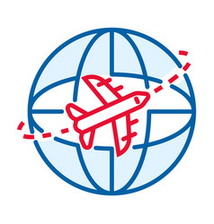 global air delivery icon outline style vector image