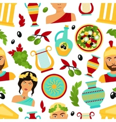 Greece seamless pattern vector image