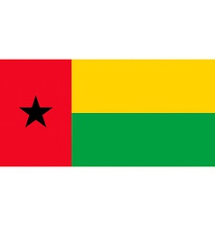 guineabissau flag vector image