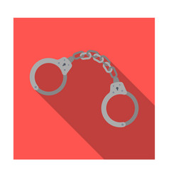handcuffs icon in flat style isolated on white vector image
