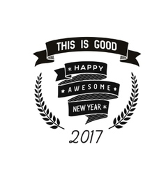 Happy new year badge vector