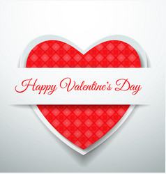 happy valentines day with cut paper hearts vector image