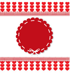 holiday template with round lacy sticker copy vector image