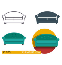 icons of the sofa vector image