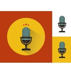 Karaoke microphones set vector image