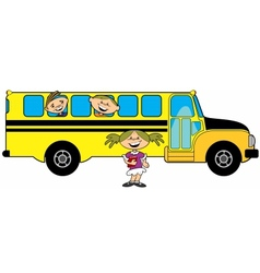 Kids bus vector