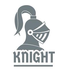 Knight helmet logo simple gray style vector