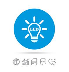 Led light lamp icon energy symbol vector