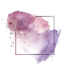 Light dark purple abstract watercolor background vector