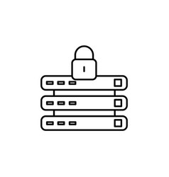 locked data connection icon vector image