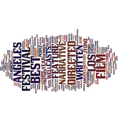 los angeles film festival text background word vector image