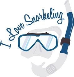 Love Snorkeling vector