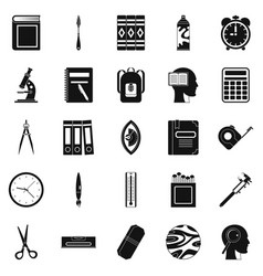 magistrate icons set simple style vector image