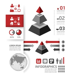 Modern Design template can be used for infograph vector image