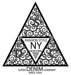 new york fashion graphic design minimal art vector image