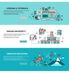 Online education on-line training courses staff vector image