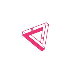 optical triangle icon penrose geometric dimension vector image