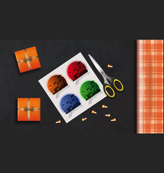 Packing gifts for halloween concept design vector