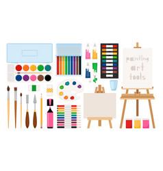 painter art tools vector image