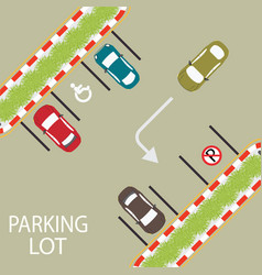 Parking zone conceptual vector
