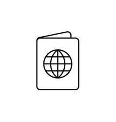 passport linear icon on white background editable vector image