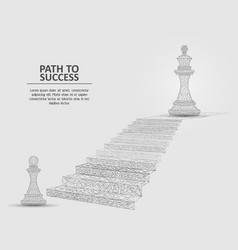 path to success geometric polygonal vector image
