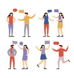 people communicate with each other vector image