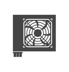 power supply unit bold black silhouette icon vector image