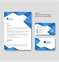 professional creative letterhead and business vector image