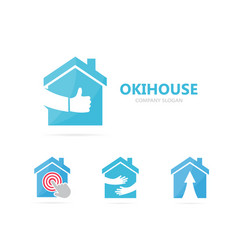 Real estate and like logo combination vector