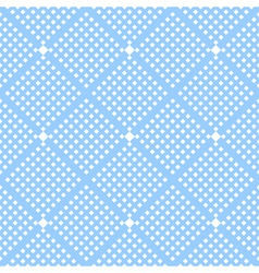 Seamless checked blue pattern vector image vector image