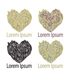 Set Heart Logo element vector image