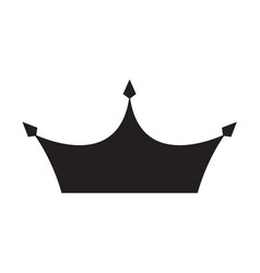 simple black crown icon eps10 vector image