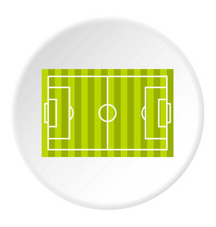 Soccer field icon circle vector