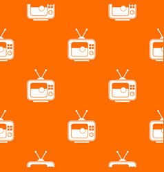 soccer match on tv pattern seamless vector image