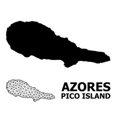 Solid and mesh map pico island vector
