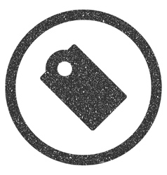 Tag Icon Rubber Stamp vector