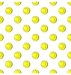 Tennis ball pattern cartoon style vector image