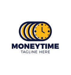 time is money concept clock and coin long term vector image