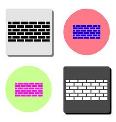 wall brick flat icon vector image