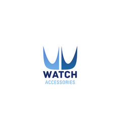 watch accessories sign vector image