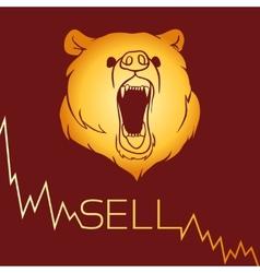 Bear short selling vector image vector image
