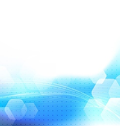 Blue bokeh glow dotted abstract background vector image vector image